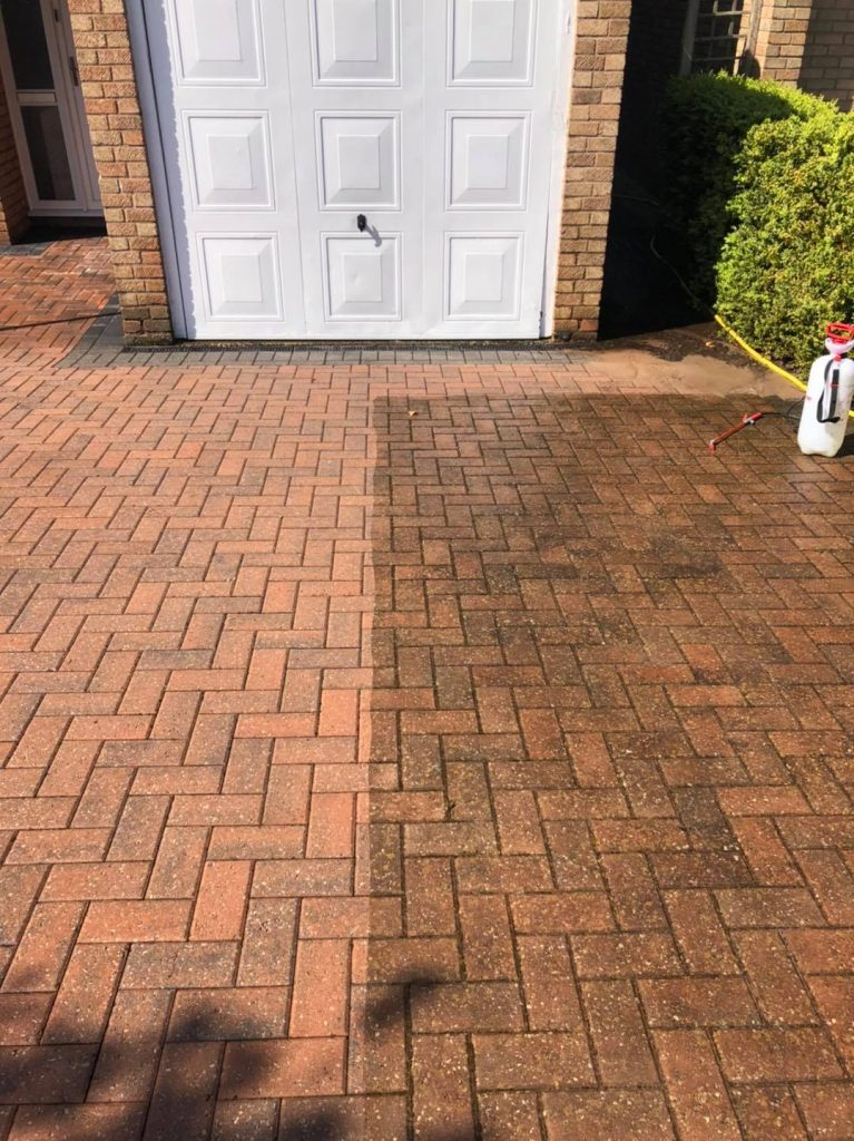 external paving cleaning